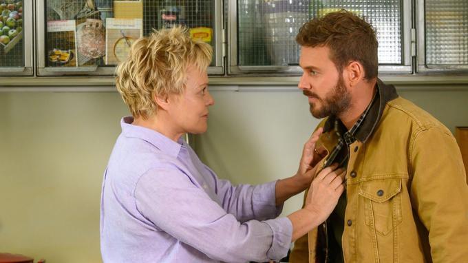 Entre Muriel Robin et Matt Pokora, une belle complicité s'est installée sur le tournage du Premier Oublié.