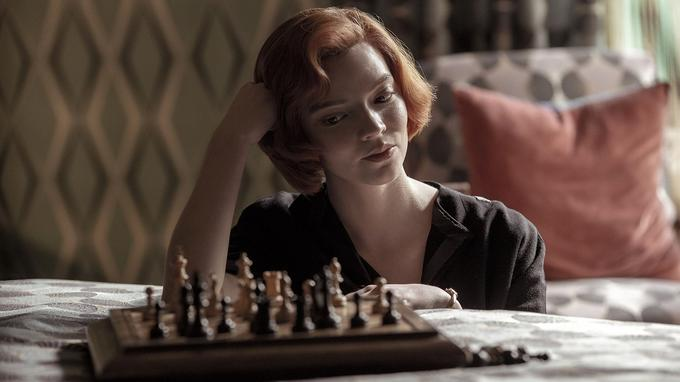 Anya Taylor-Joy dans Le jeu de la dame