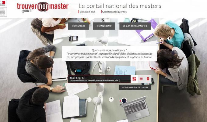 Le site Trouvermonmaster.gouv.fr regroupe l'intégralité des diplômes nationaux de master.