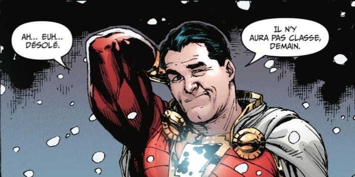 Gary Franck s'amuse avec talent de la double identité de Billy l'adolescent alias Shazam.
