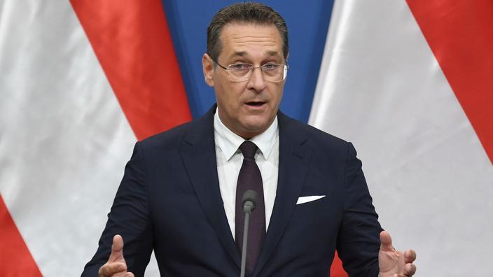 Heinz-Christian Strache, vice-chancelier et patron du FPÖ.