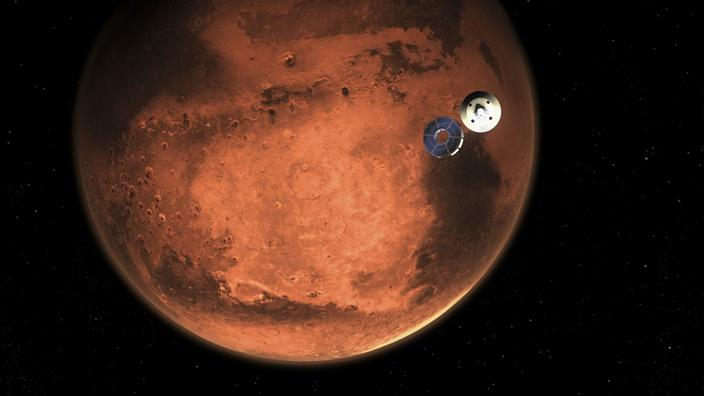 Una foto del pianeta Marte prese il 15 febbraio.