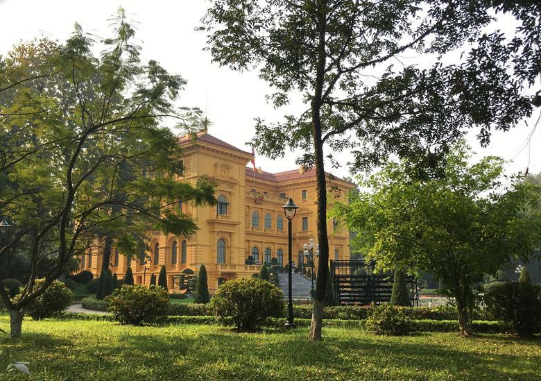 Le palais présidentiel de Hanoï, ancienne résidence du gouverneur général de l'Indochine française.