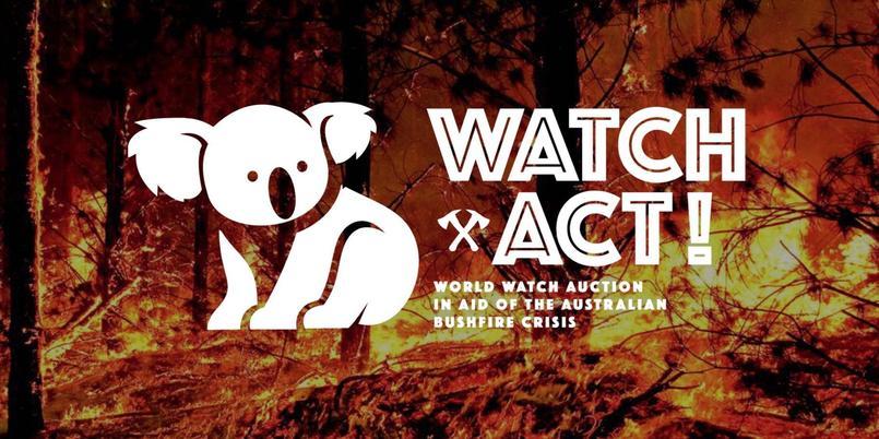 """""""Watch & Act: 16 belles montres aux enchères en ligne pour l'Australie"""