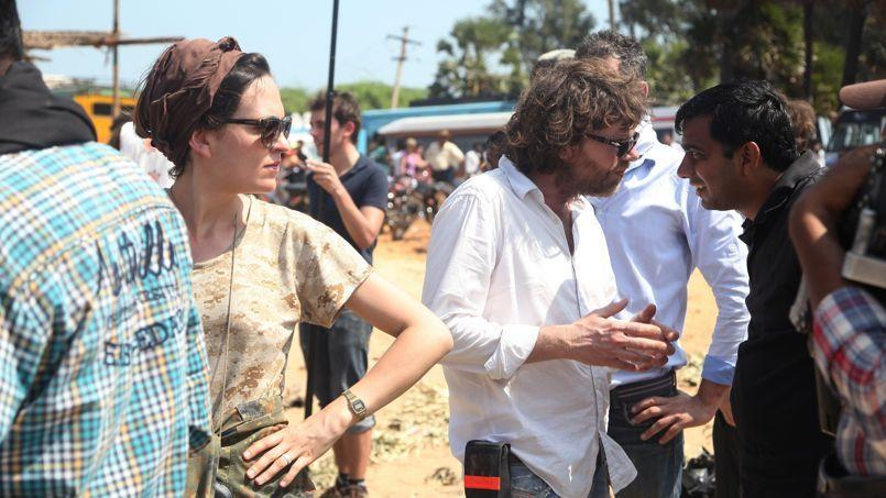 Éponine Momenceau sur le tournage de Dheepan avec Jacques Audiard.