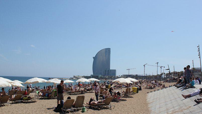 Il suffit d'un ticket de métro pour aller à la plage de Barcelone.