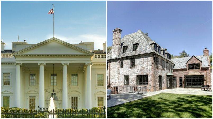 À gauche: la Maison Blanche; à droite: la résidence des Obama