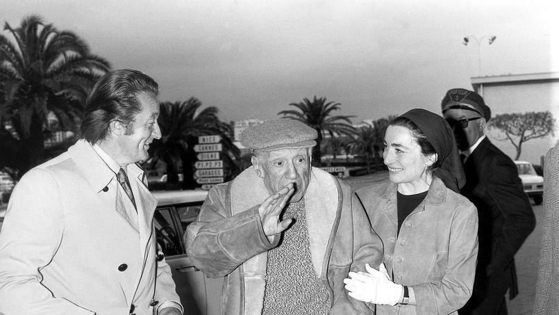 Roland Dumas avec Pablo Picasso