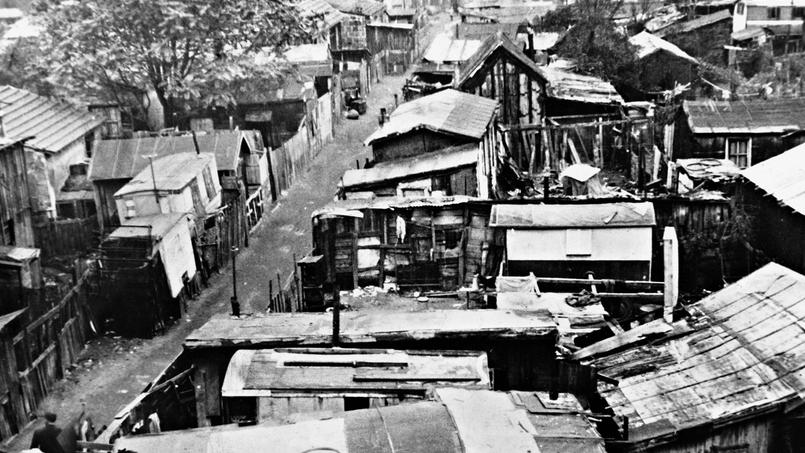 Bidonville de la porte de Saint-Ouen, en 1940.