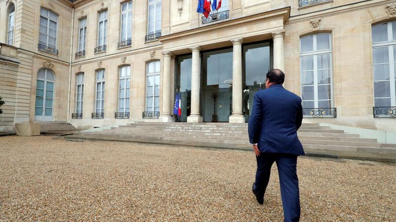 Le président de la République François Hollande à l'Élysée.