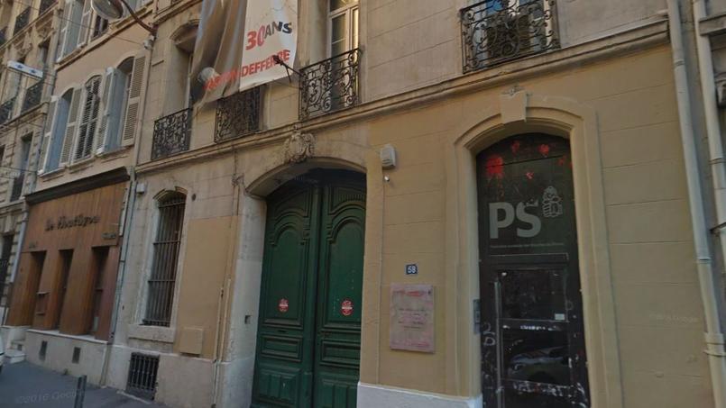 Le siège de la Fédération du PS des Bouches-du-Rhône, à Marseille - Capture d'écran via Google Maps