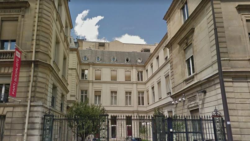 Le siège du Parti socialiste, rue de Solférino, dans le VIIe arrondissement de Paris.