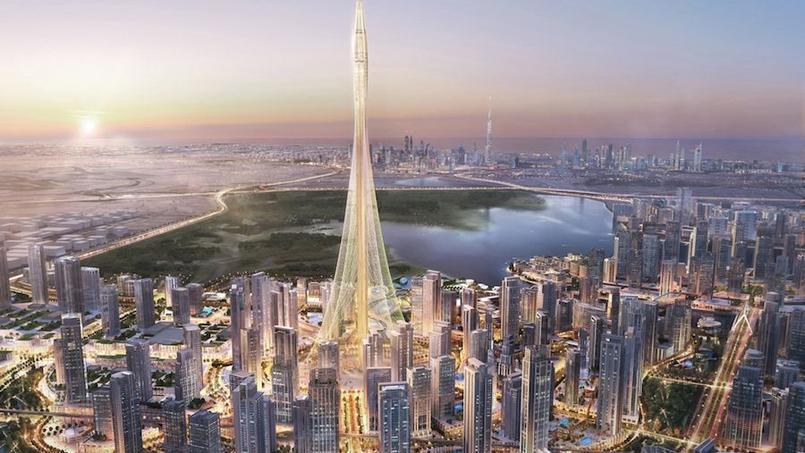 La Dubaï Creek Tower culminera à près d'un kilomètre de hauteur.