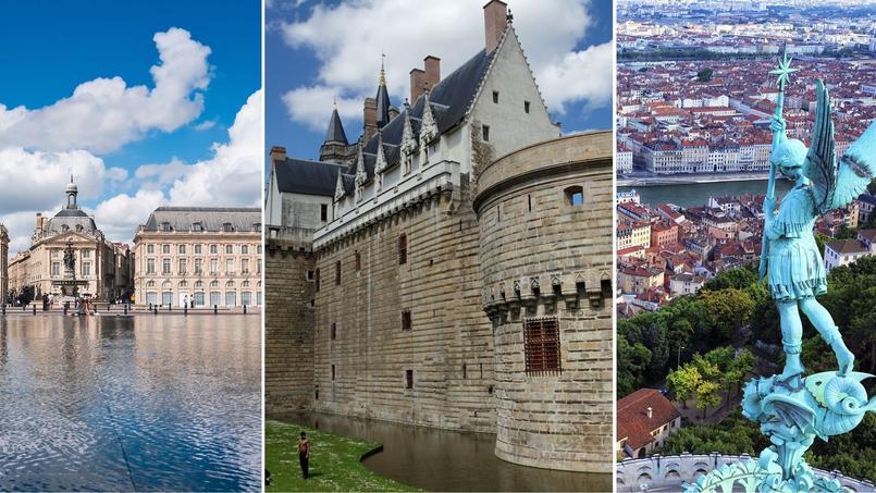 Focus sur les trois villes qui constituent le trio de tête des villes préférées des cadres parisiens selon l'enquête annuelle de Cadremploi. Direction Bordeaux, Nantes et Lyon.