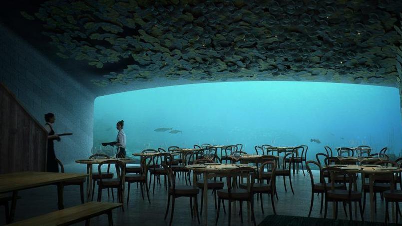 Une vue de la pièce principale du restaurant qui peut accueillir jusqu'à 100 convives.