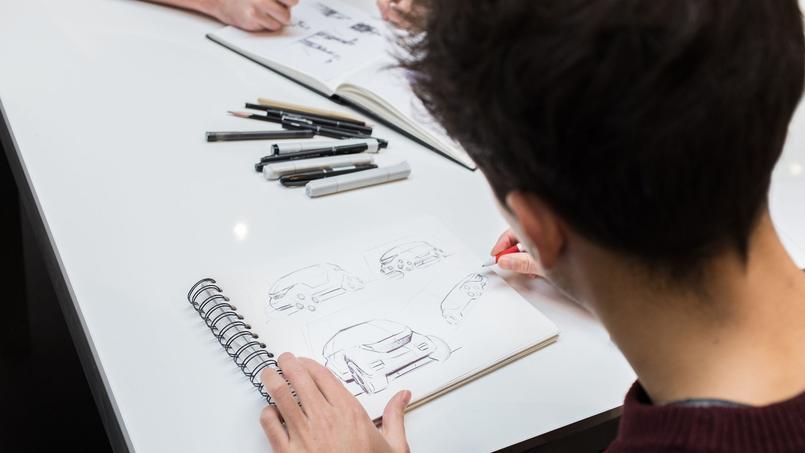 Les étudiants des écoles animeront des ateliers (ici des étudiants de Strate, école réputée dans le design automobile).