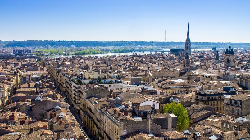 Vue générale de Bordeaux.