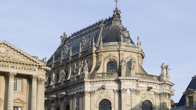Vue sur la Chapelle royale avant restauration