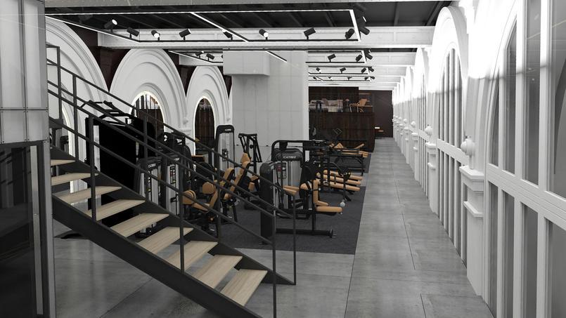 d couvrez les images de la future salle de sport de la gare saint lazare. Black Bedroom Furniture Sets. Home Design Ideas