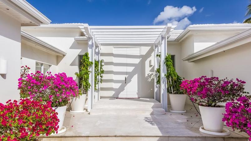 L'entrée de la villa de Shakira, à Miami.