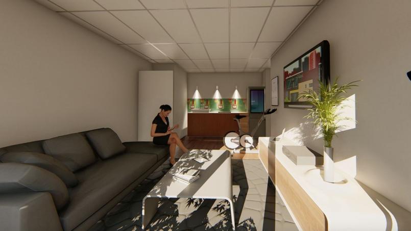 Vue 3D de l'appartement de Montpellier.