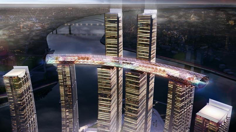 Image prospective du «gratte-ciel horizontal» de Chongqing.