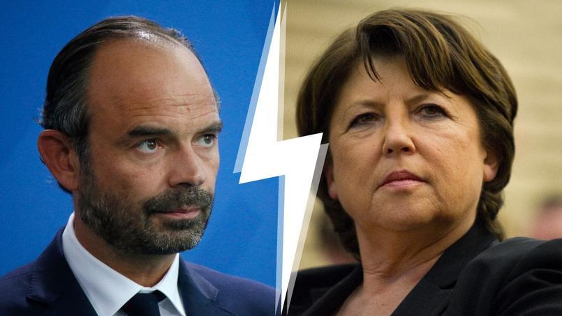 Le premier ministre Édouard Philippe et le maire de Lille Martine Aubry