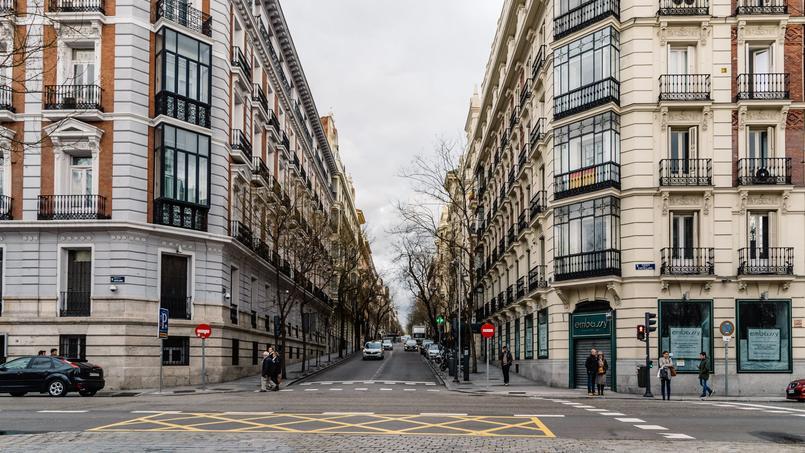 Une rue du quartier de Salamanca, à Madrid.