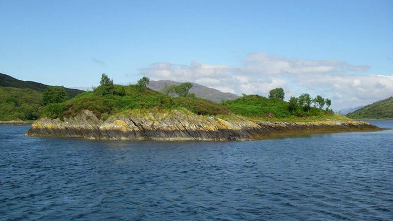 L'île de «Eilan Nan Gabhar» ou île des chèvres, au cœur du Loch Craignish