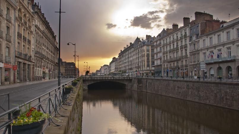 Coucher de soleil sur Rennes.