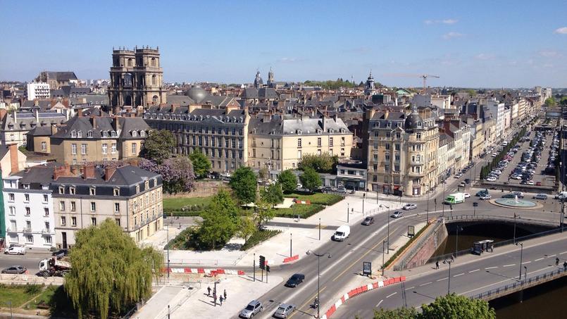 Une rue historique de Rennes.