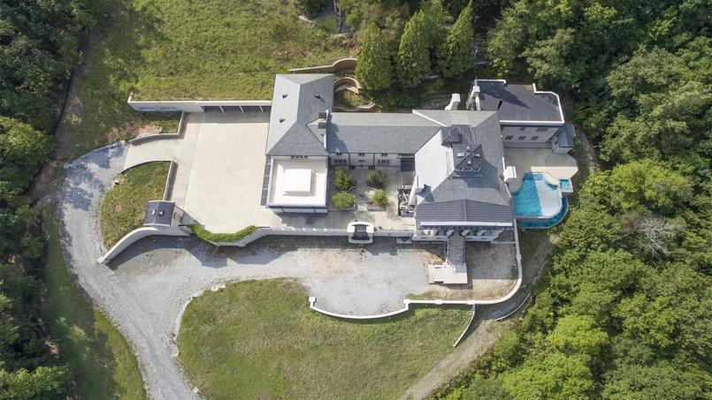 Vue du ciel de la résidence, aux États-Unis.