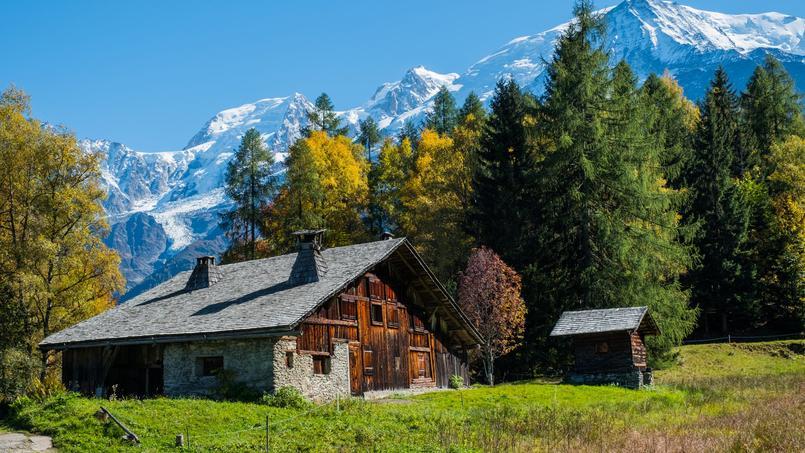 Un chalet typique dans la région de Chamonix (74)