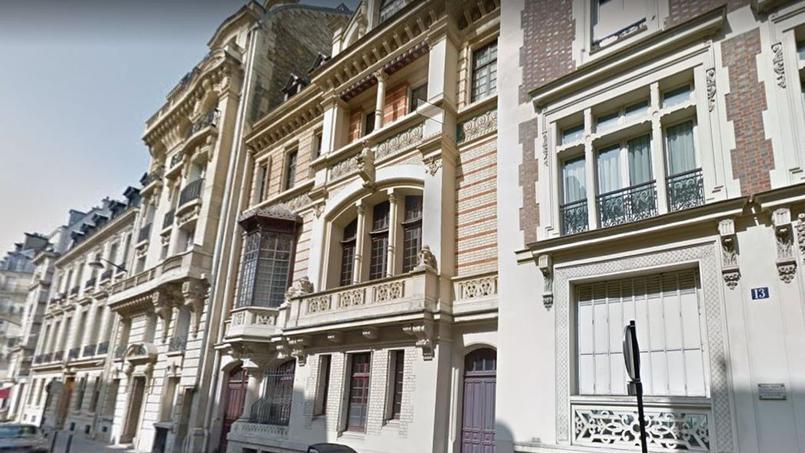 L'hôtel Fortuny (au centre de l'image).