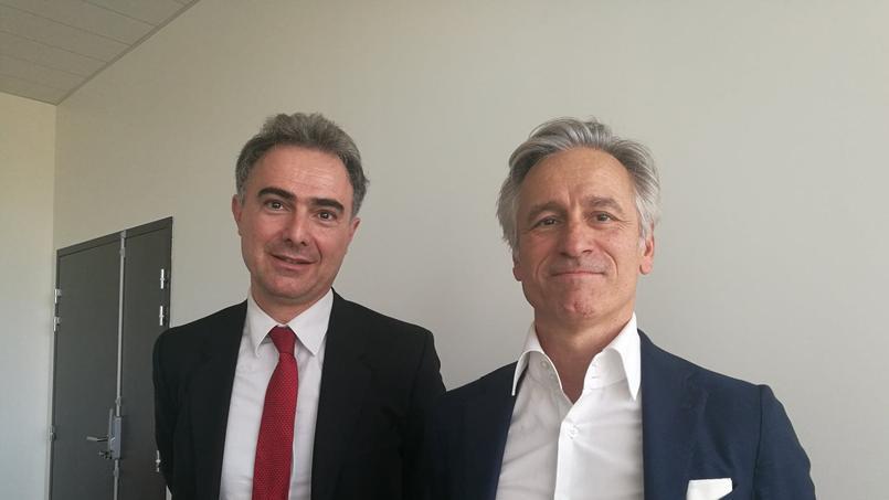 José Milano, directeur général de Kedge bs, et Stanislas de Bentzmann, le président de l'école.