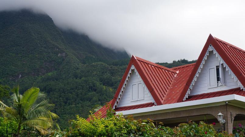 Construction typique, à la Réunion.