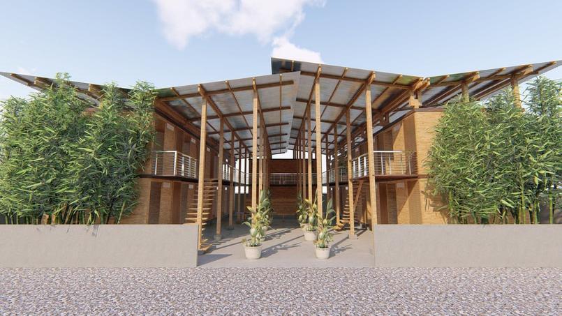 newsinn ces maisons low cost en bambou seraient elles l avenir des villes. Black Bedroom Furniture Sets. Home Design Ideas