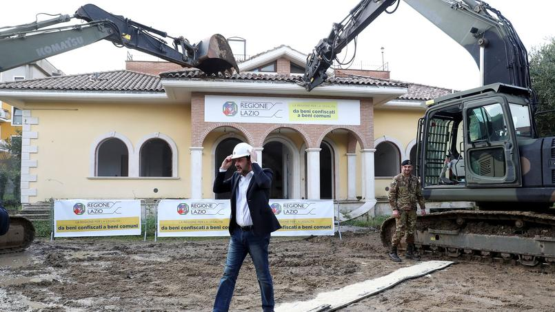Matteo Salvini en chef de chantier.