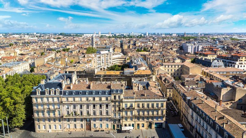 Vue panoramique sur la ville de Bordeaux