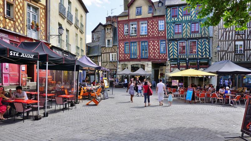 Un quartier médiéval à Rennes, l'une des villes où il fait bon investir.