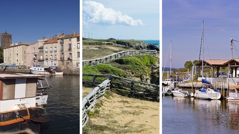 De gauche à droite: Agde, Saint-Hilaire-de-Riez et Andernos-les_Bains.