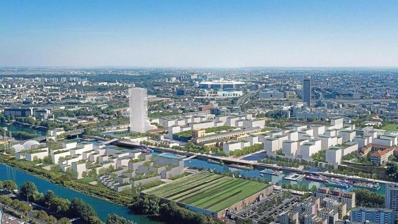 Le futur village olympique des Jeux olympiques de 2024 qui se dérouleront à Paris.