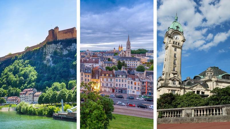 De gauche à droite: Besançon, Caen et Limoges
