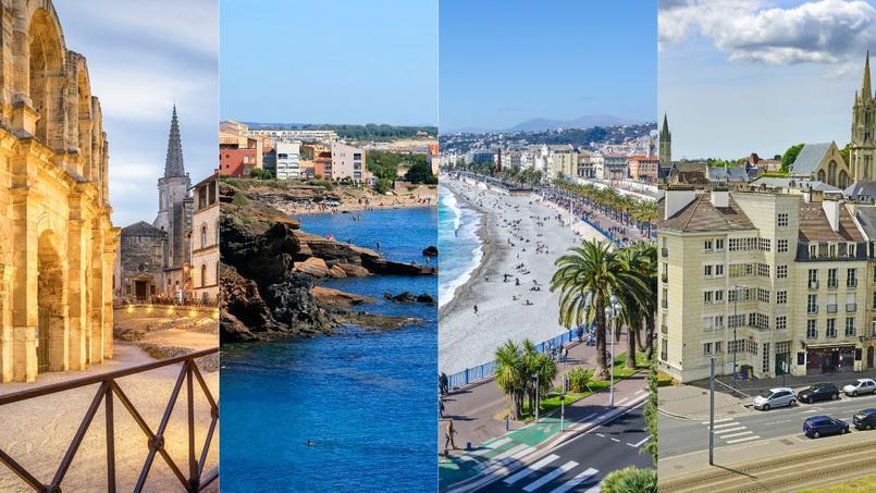 De gauche à droite: Arles, Agde, Nice et Caen