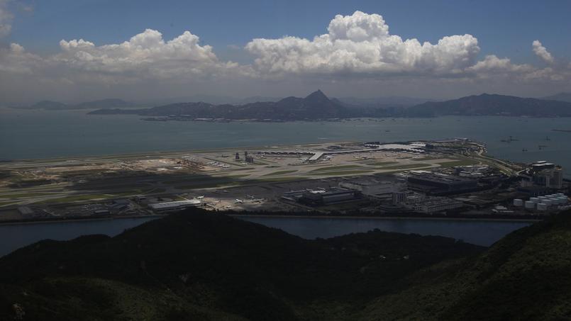 Planes are seen at the Hong Kong Aiport at Lantau Island
