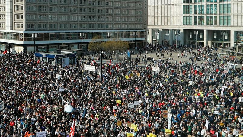 Protest against rising rents and a housing shortage in Berlin