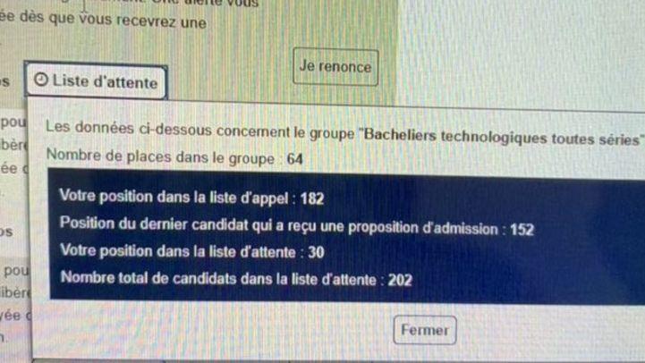 De nombreux candidats ont posté sur Twitter les captures d'écran de Parcoursup.