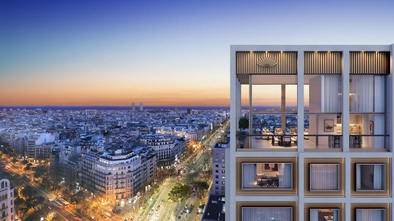 Une vue en hauteur depuis le futur Mandarin Oriental à Barcelone.