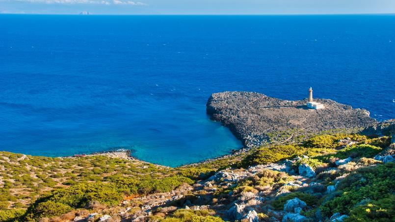 Vue générale de l'île d'Anticythère.