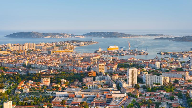 Vue générale de Toulon.